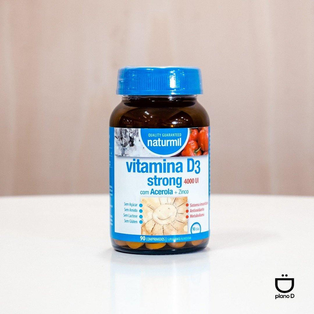VITAMINA D3 STRONG 4000UI 90COMP - Mercearia Plano D