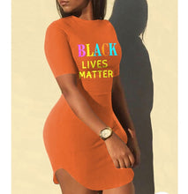 Load image into Gallery viewer, Black Lives Matter Bodycon Dress