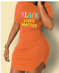 Black Lives Matter Bodycon Dress
