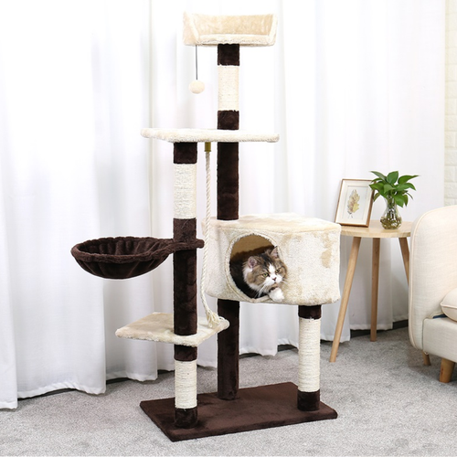 4 Story Cat Scratching Tree - The Pet Supply