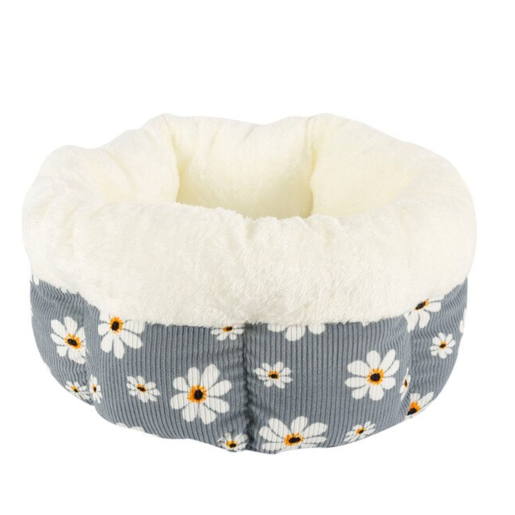 Round Flower Cat Nest Bed - The Pet Supply
