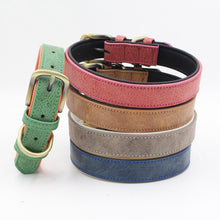 Load image into Gallery viewer, Matt Colour Leather Collar - The Pet Supply