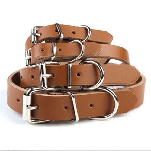 Cow Leather Collar - The Pet Supply