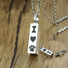 Load image into Gallery viewer, Bone Heart and Paw Urn Pendant - The Pet Supply