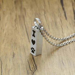 Bone Heart and Paw Urn Pendant - The Pet Supply