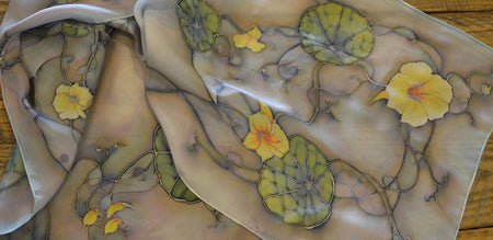HANDPAINTED SILK SCARVES BY SUSAN WEBER