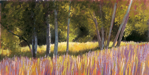 'BIRCH AND LUPINE MEADOW' BY LIZ HAYWOOD-SULLIVAN