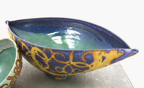 LIZ KINDER 'BLUE SKIES ABOVE' ELLIPTICAL BOWL