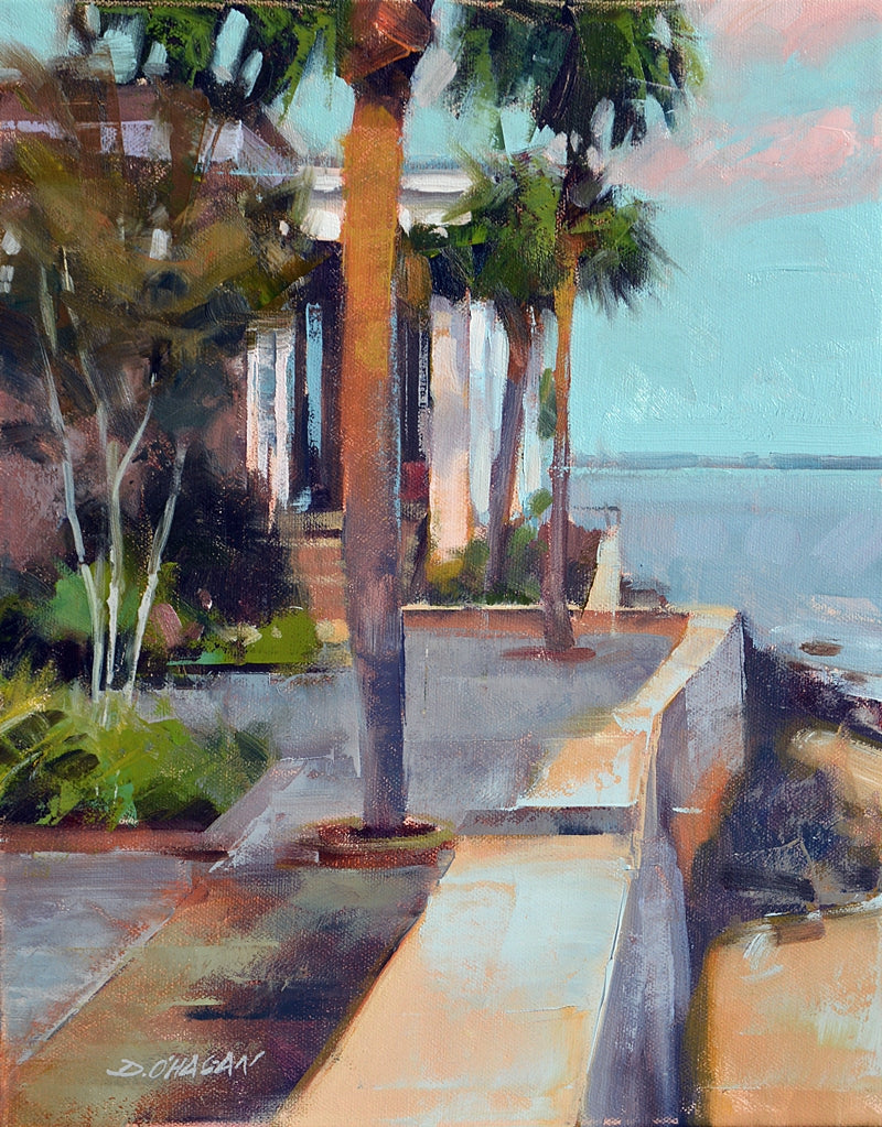 The Bay At Sunset By Desmond Ohagan Cecil Byrne Gallery
