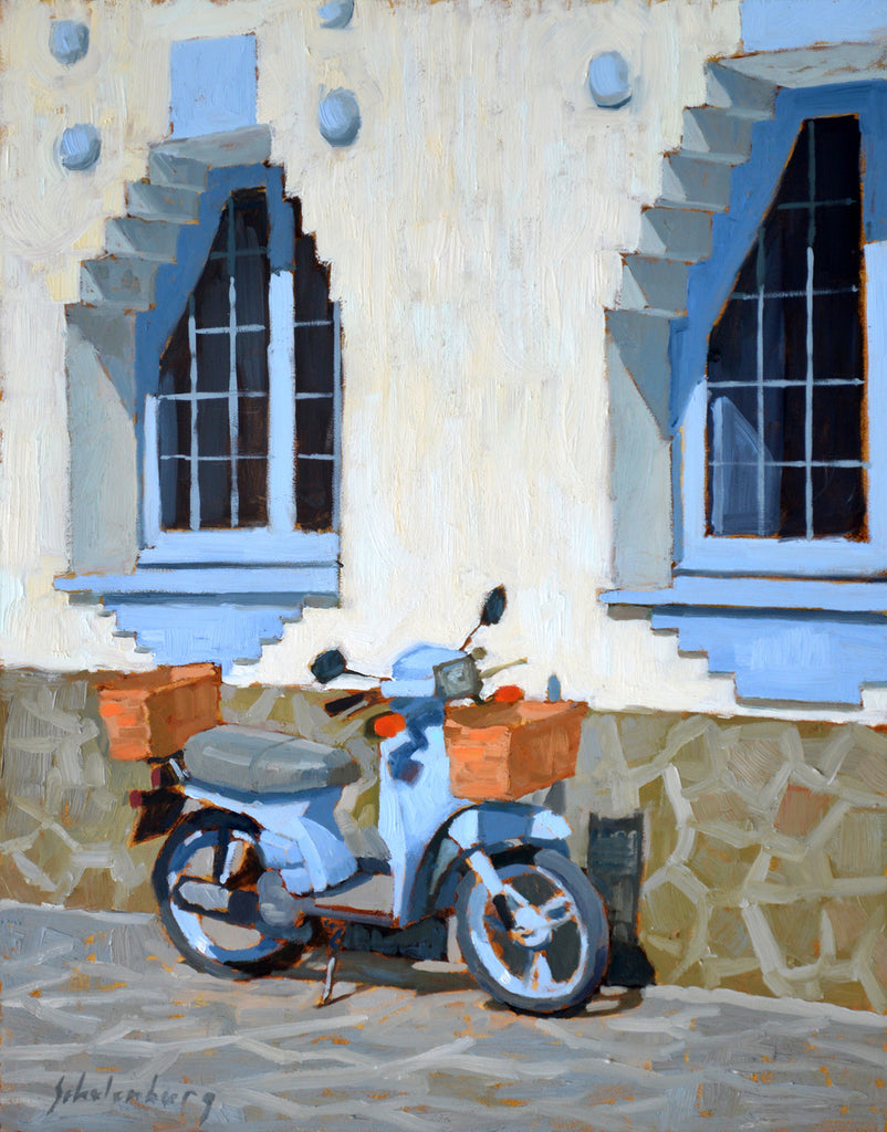 'BLUE SCOOTER' BY PAUL SCHULENBURG