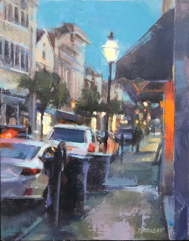 """CITY OF LIGHTS AT NIGHT, CHARLESTON"" BY DESMOND O'HAGAN"