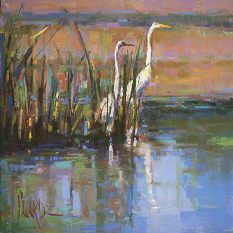 *SOLD* 'EGRETS I' BY ALAIN PICARD
