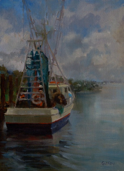 *SOLD*'EDISTO SHRIMPER' BY SUE GILKEY