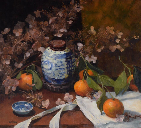 'BLUE GINGER AND ORANGES' BY SUE GILKEY
