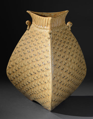 "*SOLD* ""GLORIOUS SUN VASE"" BY JIM & SHIRL PARMENTIER"