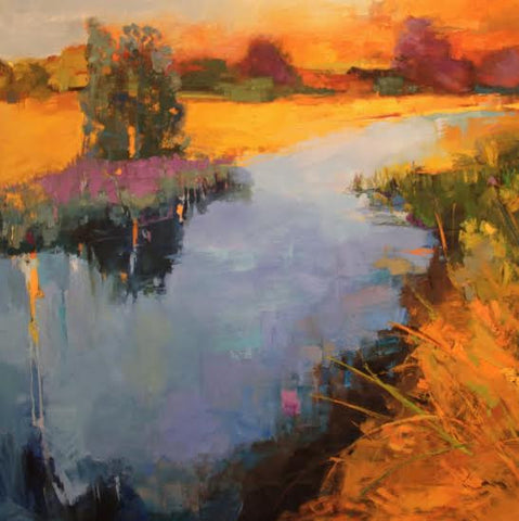 *SOLD* 'GOLDEN REEDS IN THE MARSH' BY ANN WATCHER
