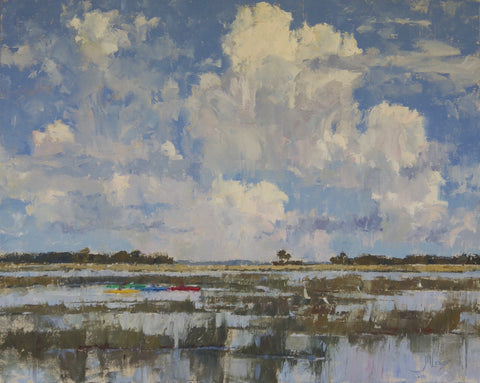 'KAYAKS IN THE MARSH' BY JAMES NELSON LEWIS