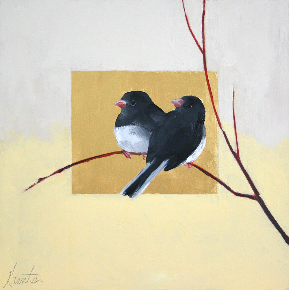 *SOLD* 'JUNCO SWEETHEARTS' BY ELLEN GRANTER