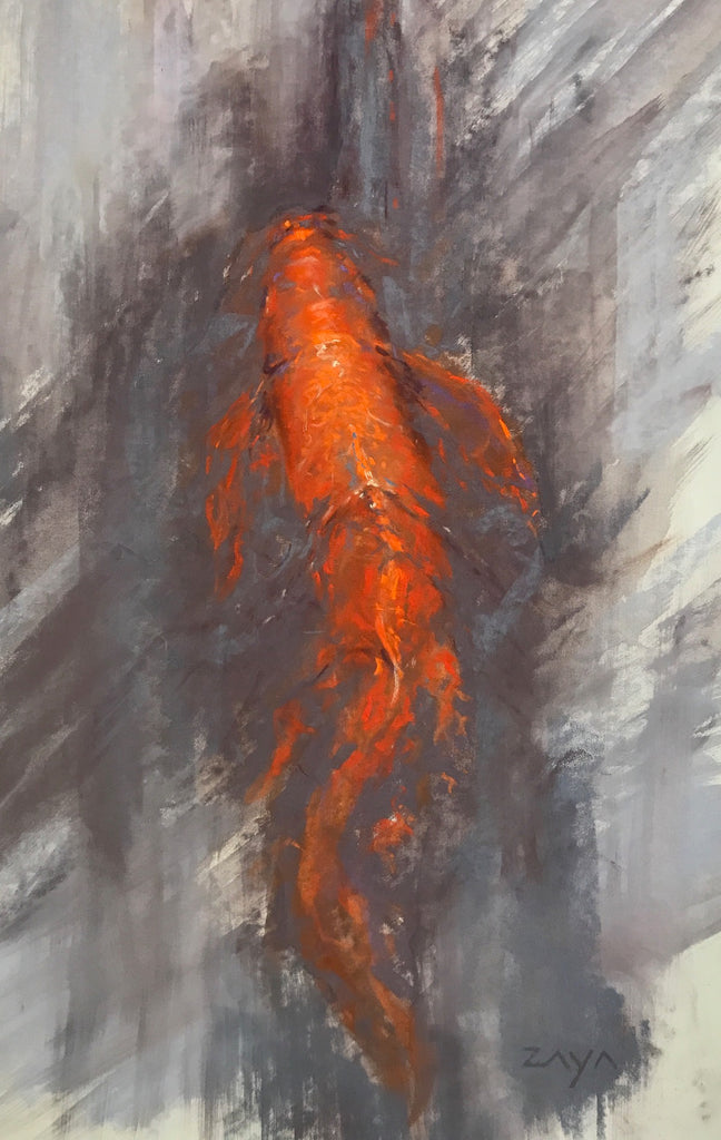 *SOLD* 'KOI STUDY I' BY ISAIAH RATTERAM