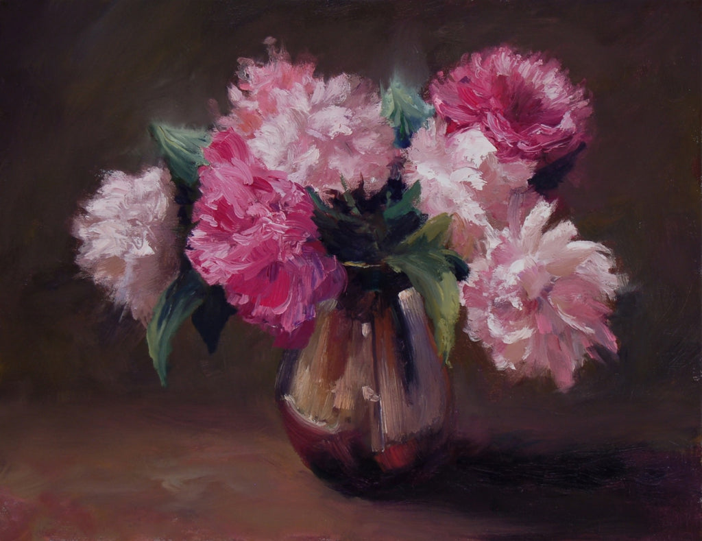 *SOLD* 'LAST OF THE PEONIES' BY SUSAN GILKEY