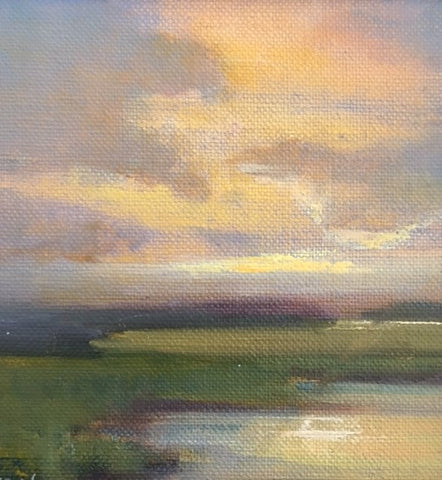 "*SOLD* ""MARSH TWILIGHT"" BY MARY GARRISH"