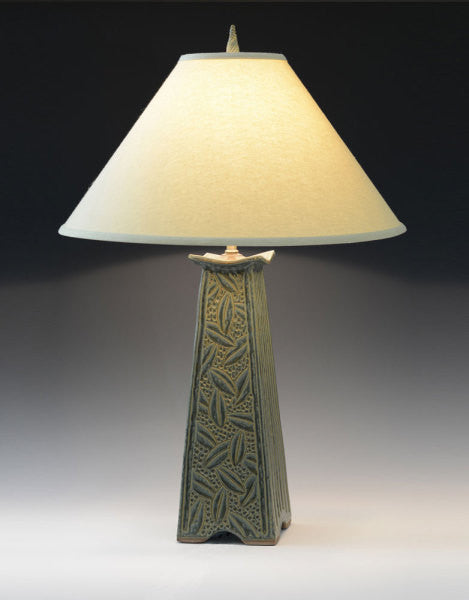 """LARGE SAGE MISSION LAMP"" BY JIM & SHIRL PARMENTIER"