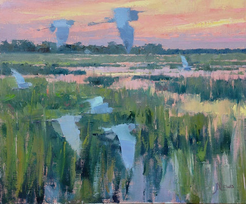 'MORNING OVER THE MARSH' BY JAMES NELSON LEWIS