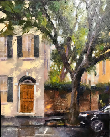 "*SOLD*""NEIGHBORHOOD SHADE, CHARLESTON"" BY DESMOND O'HAGAN"