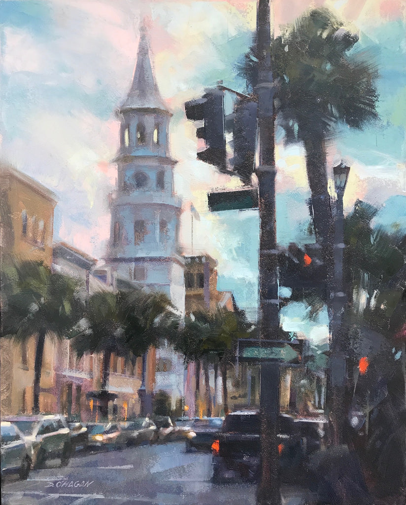 """ST MICHAEL'S, CHARLESTON"" BY DESMOND O'HAGAN"