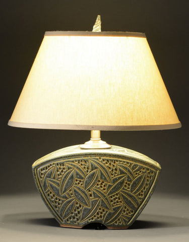 """MEDIUM SAGE KEYSTONE LAMP"" BY JIM & SHIRL PARMENTIER"