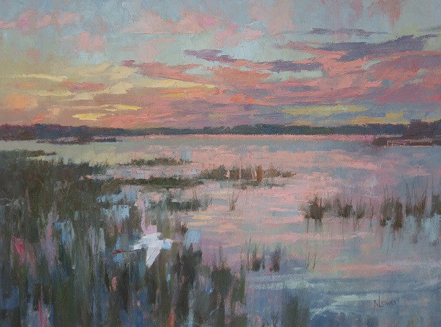 *SOLD* 'SUNSET OVER THE CREEK' BY JAMES LEWIS