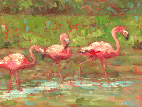 'FLAMINGO STROLL' BY MICHAEL-CHE SWISHER