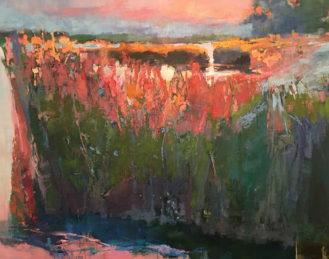 *SOLD* 'WARM SILENCE FALLING ON THE MARSH' BY ANN WATCHER