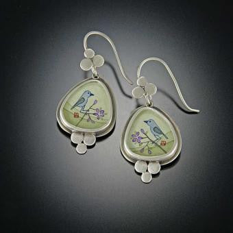 *SOLD* PRETTY LITTLE BLUEBIRD EARRINGS