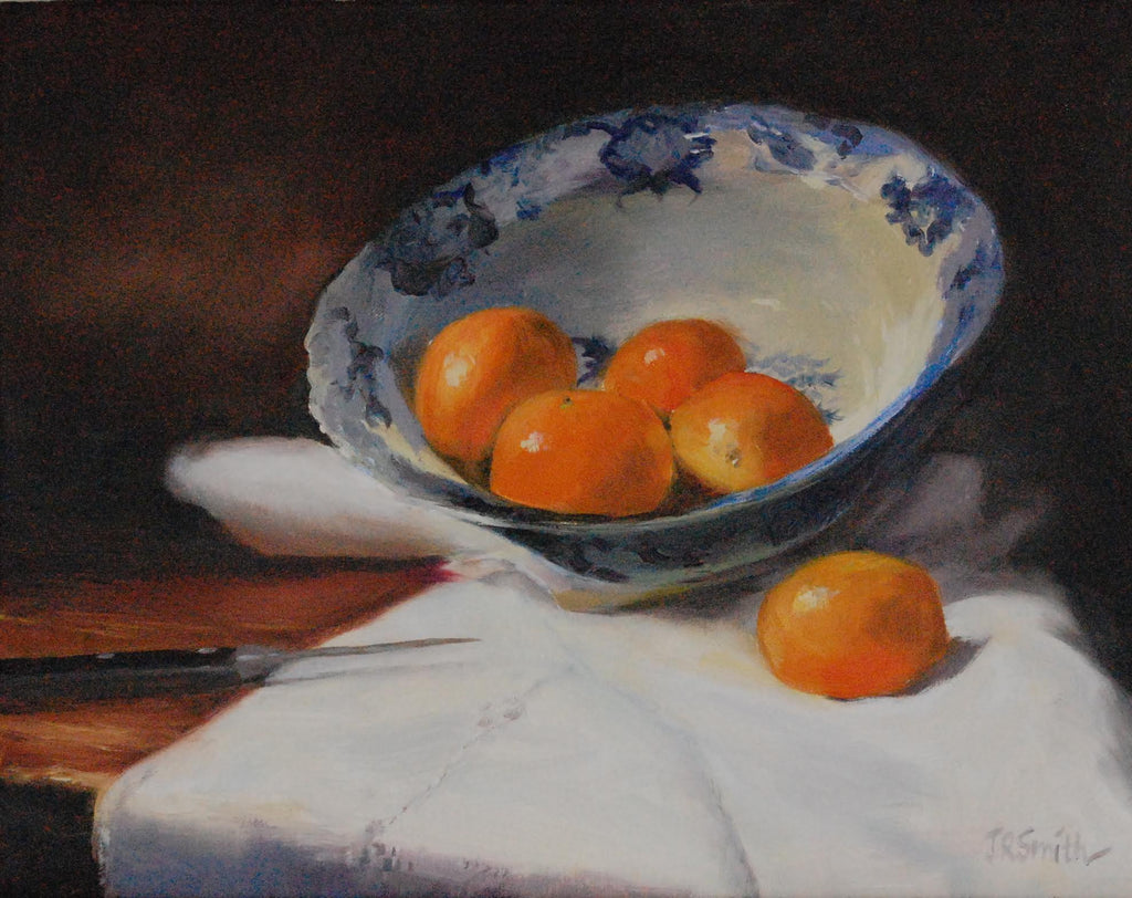 *SOLD* 'CLEMENTINES & BLUE WILLOW' BY JEANNE ROSIER SMITH