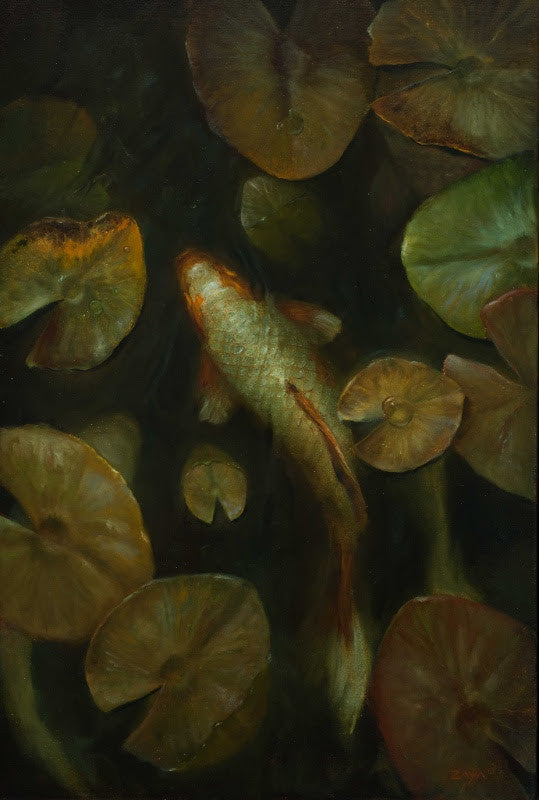 *SOLD* 'DRIFTING THROUGH THE LILIES' BY ISAIAH RATTERMAN