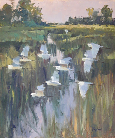 *SOLD*'EVENING FLY BY' BY JAMES NELSON LEWIS