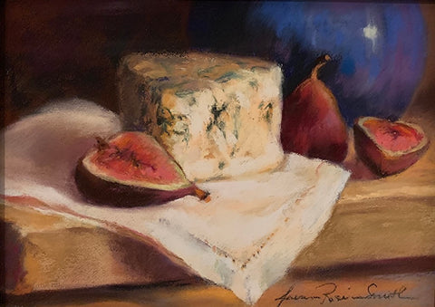 *SOLD* 'FIGS AND BLUES' BY JEANNE ROSIER SMITH