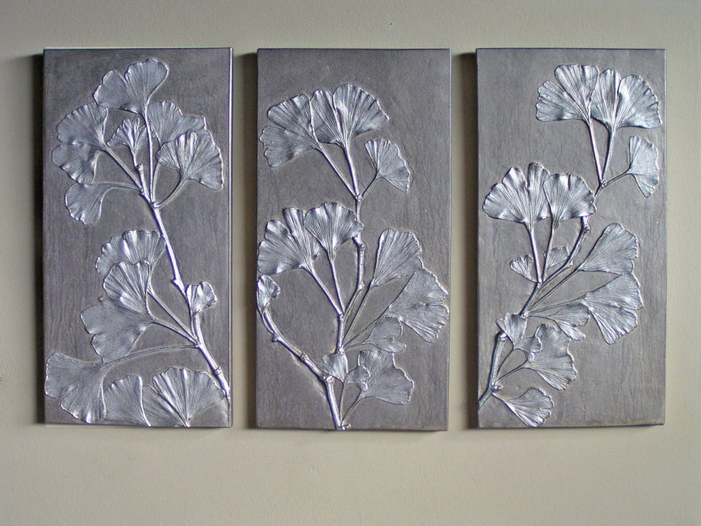 GINGKO PANEL, SET OF THREE
