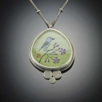 PRETTY LITTLE BLUEBIRD NECKLACE
