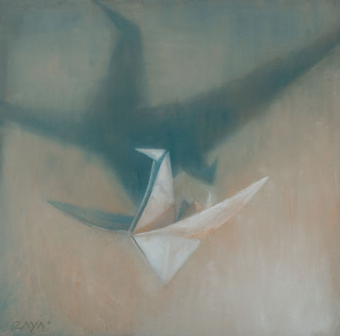 'PAPER CRANE IN FLIGHT' BY ISAIAH RATTERMAN