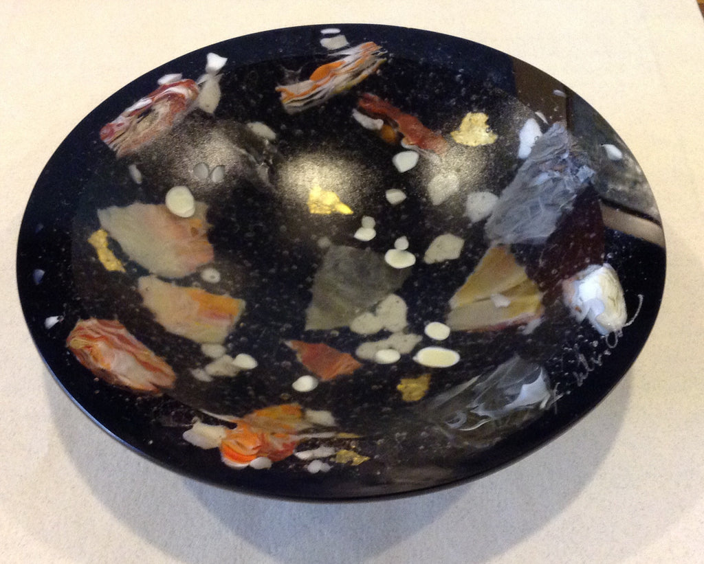 *SOLD*NIGHT RIVERSTONE MATRIX BOWL