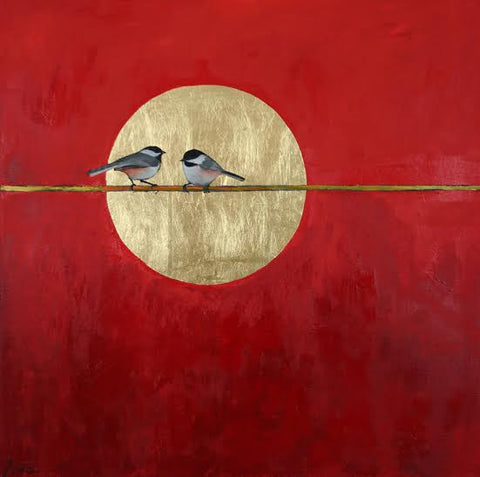 *SOLD* 'CHICKADEE MOON' BY ELLEN GRANTER