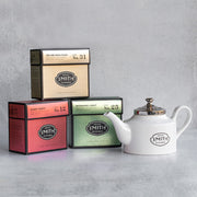 Holiday Carton Trio with Teapot