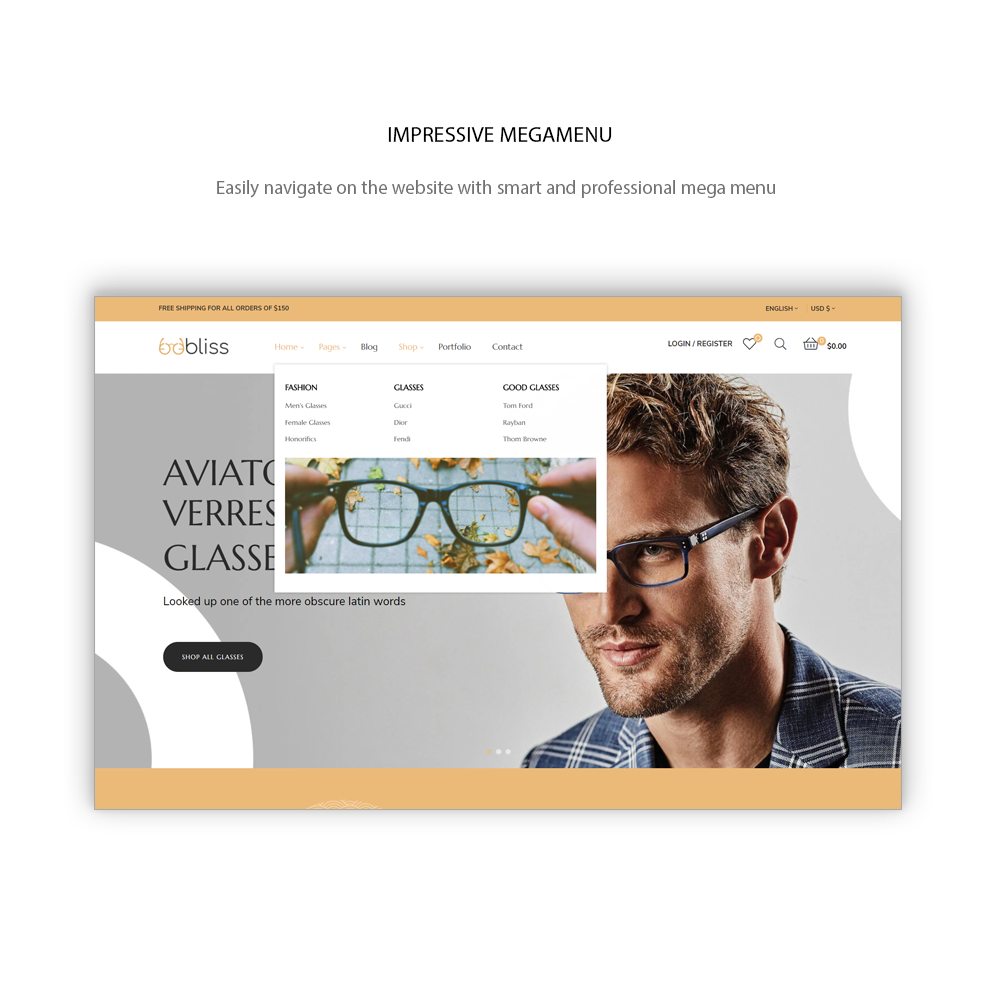 Oobliss Glasses Store - Responsive Prestashop Theme