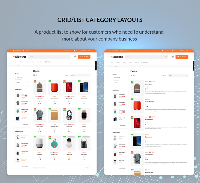 Elextra - Multipurpose Prestashop Electronics Theme
