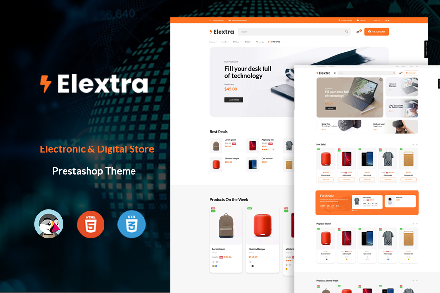 At Elextra - Multipurpose Prestashop Electronics Theme
