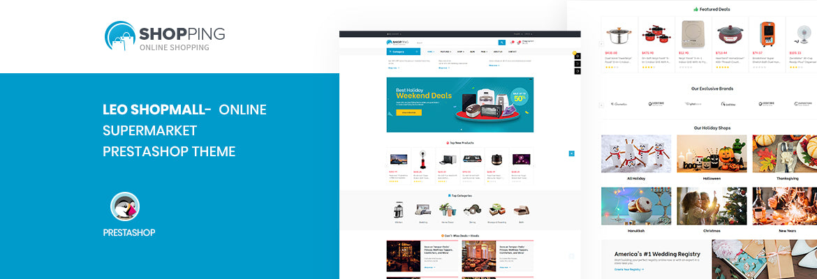 Leo ShopMall -  Supermarket Prestashop Electronics Theme