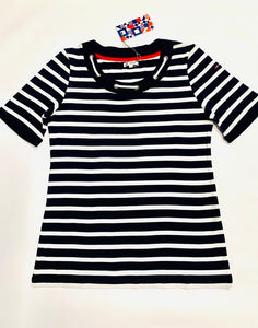 Nautical T-Shirt mit Seil Applikation