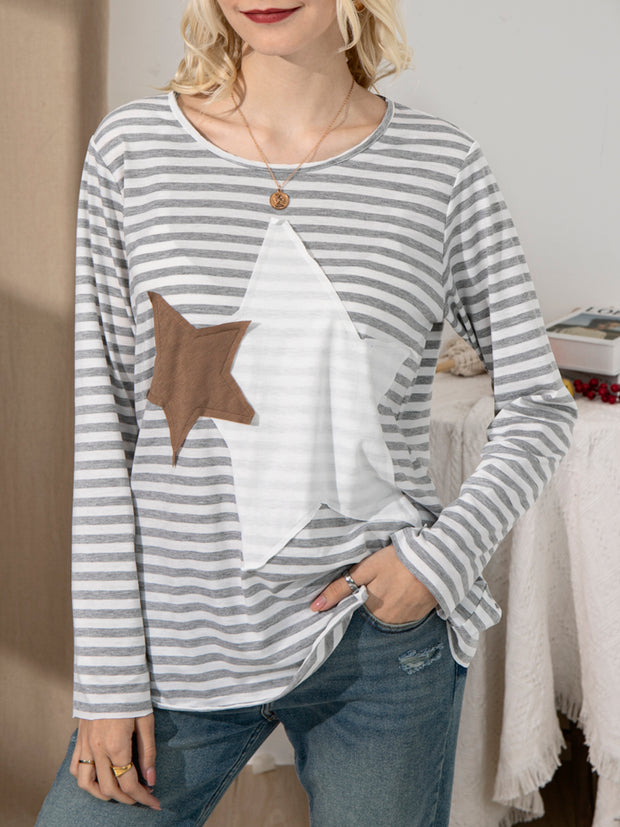 Ladies Casual Striped Top